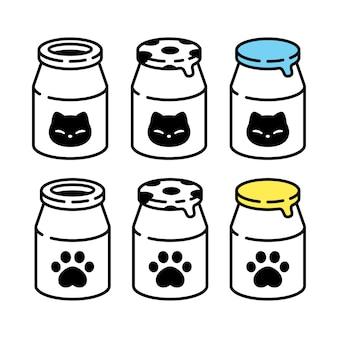 Icône de bouteille de lait chat