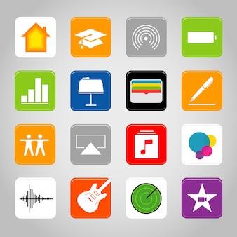 Icône de bouton d'application mobile téléphone intelligent à écran tactile