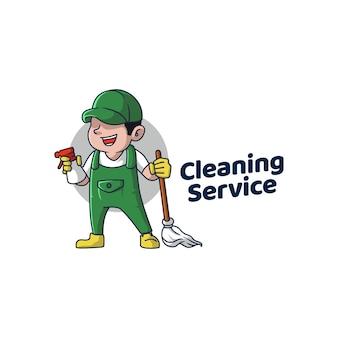 Icône de brillance de nettoyage de logo de service propre