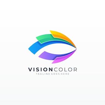 Icône bulle colorée vision abstraite des yeux