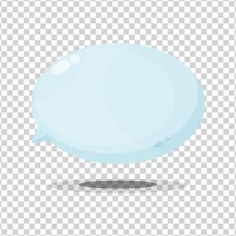 Icône de bulle sur fond blanc