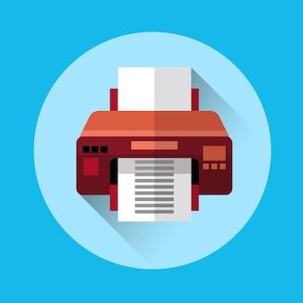 Icône de bureau imprimante colorée