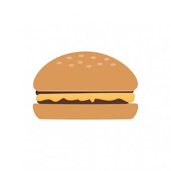 Icône de burger, nourriture délicieuse