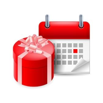 Icône cadeau et calendrier
