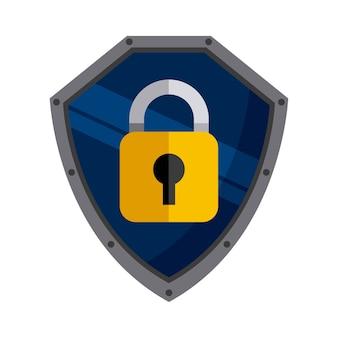 Icône de cadenas. conception de la sécurité et de la protection. graphique de vecteur