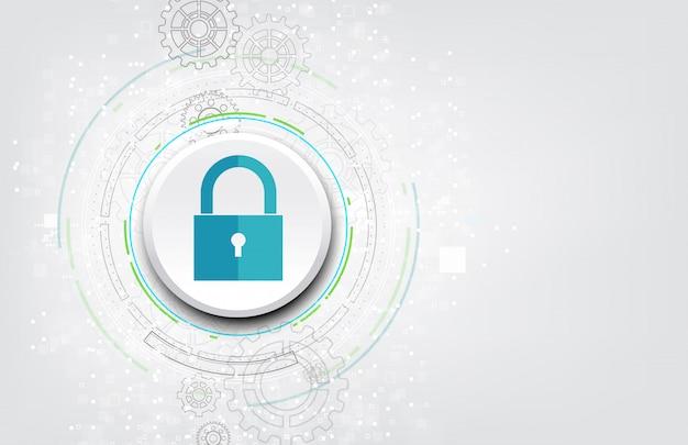 Icône de cadenas avec trou de serrure dans la sécurité des données personnelles.