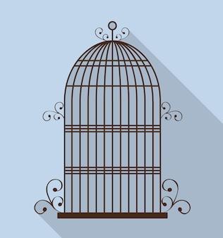 Icône de cages à oiseaux.