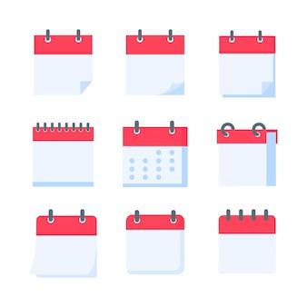 Icône de calendrier. un calendrier rouge pour les rappels des rendez-vous et des fêtes importantes de l'année.
