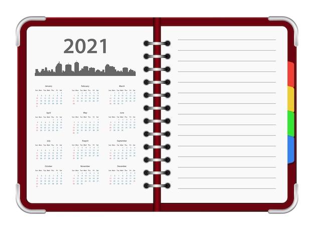Icône de calendrier oganizer année