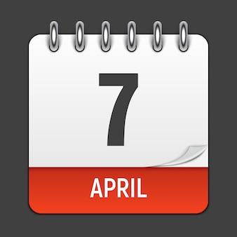 Icône de calendrier quotidien de mars