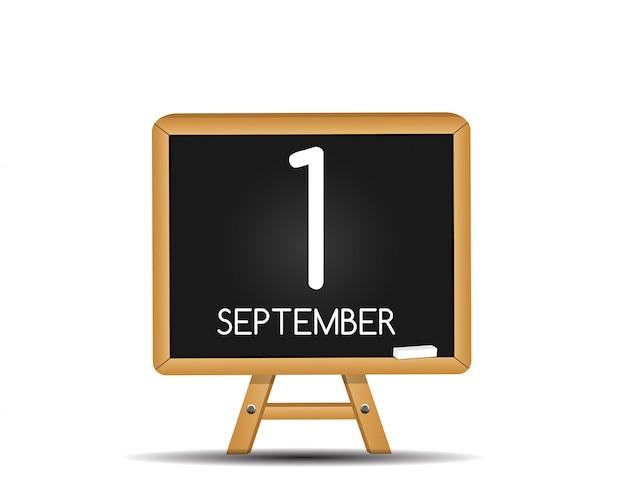 Icône de calendrier de septembre