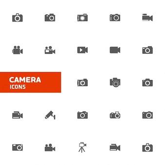 Icône caméra ensemble