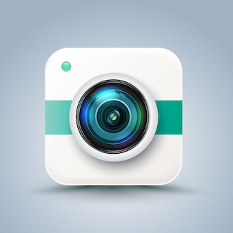 Icône de caméra rétro photo hipster.