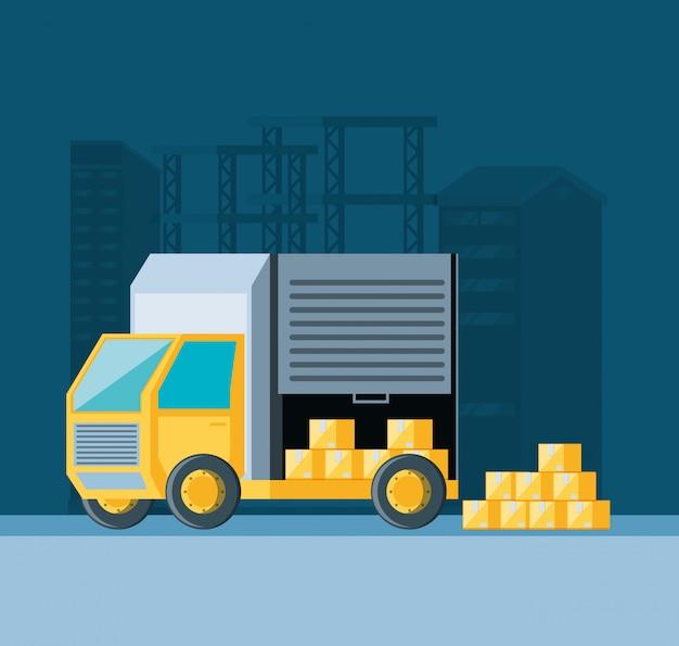 Icône de camion de service de livraison