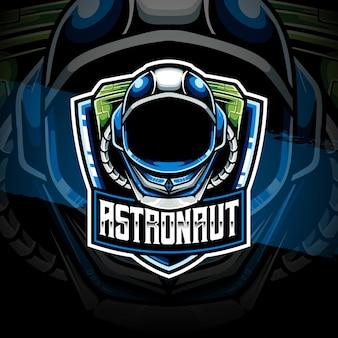 Icône de caractère astronaute logo esport