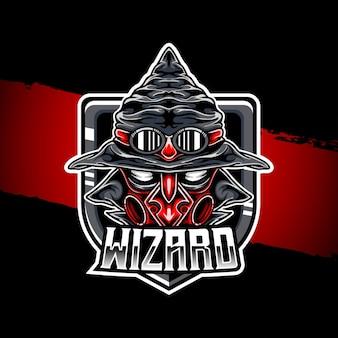 Icône de caractère esport logo wizard