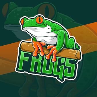 Icône de caractère grenouille logo espot