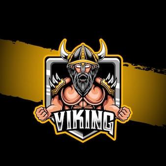 Icône de caractère viking logo esport