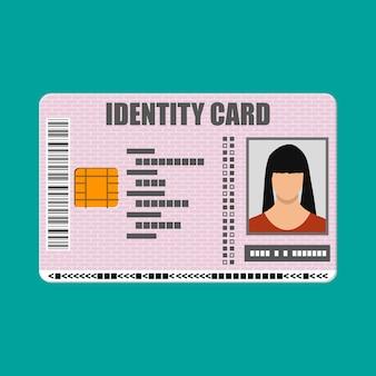 Icône de carte d'identité. carte d'identité, carte d'identité nationale