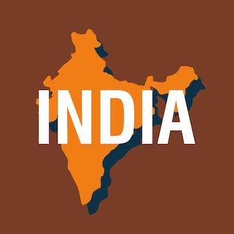 Icône de carte de l'inde