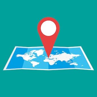 Icône de carte de navigation