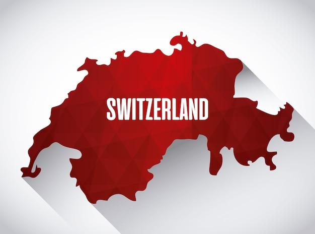 Icône de carte de pays suisse