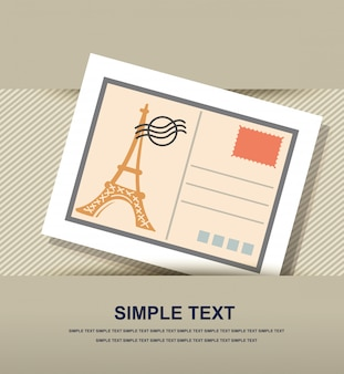 Icône de carte postale