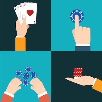 Icône de casino avec illustration vectorielle