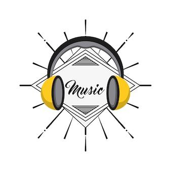 Icône de casque. conception musicale et sonore. graphique de vecteur