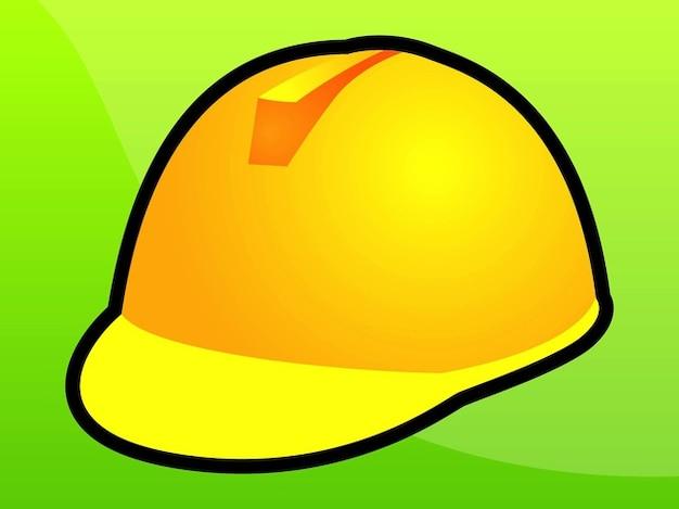 Icône casque jaune