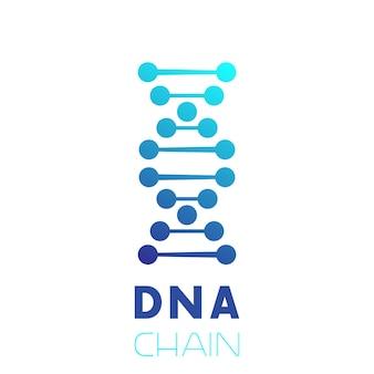 Icône de chaîne d'adn, élément de logo
