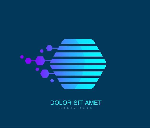 Icône de chaîne de blocs ou modèle d'élément de logo. monnaie crypto. concept de blockchain. illustration vectorielle.