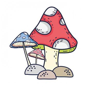 Icône de champignon de conte de fées mignon