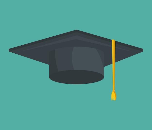 Icône de chapeau de graduation isolé