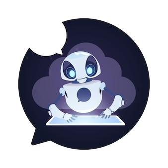 Icône chatbot robot