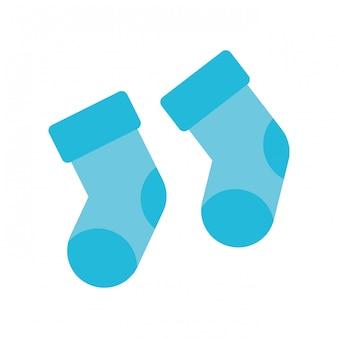 Icône de chaussettes bébé