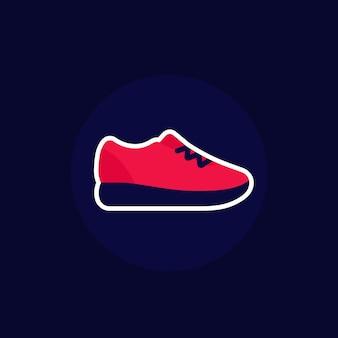 Icône de chaussure de course, baskets ou baskets