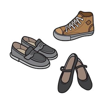 Icône de chaussure masculine et féminine
