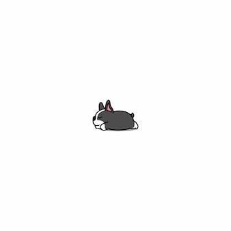 Icône de chien de boston terrier endormi
