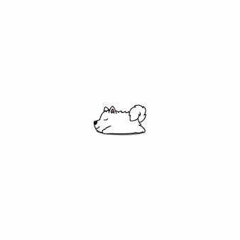 Icône de chiot samoyède endormi