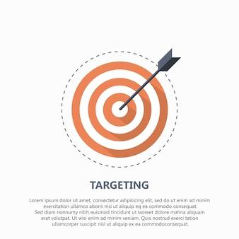 Icône cible pour les entreprises ou le sport