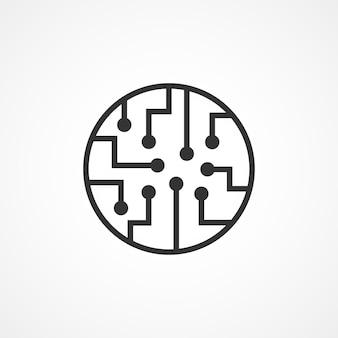 Icône de circuit imprimé