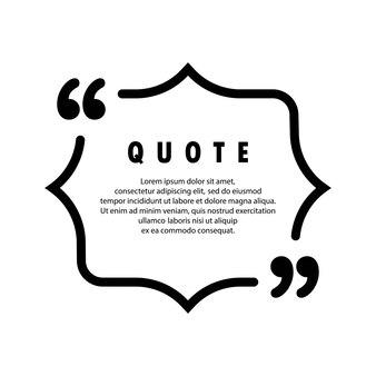 Icône de citation. contour de guillemets, marques de discours, guillemets ou collection de marques parlantes. vide pour votre texte. vecteur eps 10. isolé sur fond.