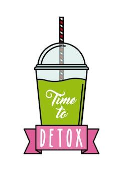 Icône de citron detox. smoothie et juice design. graphique de vecteur