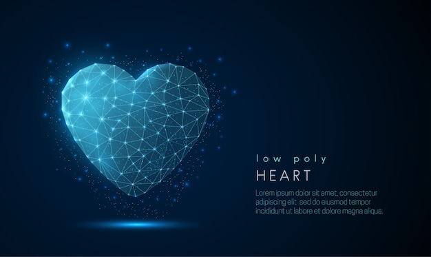 Icône de coeur abstrait