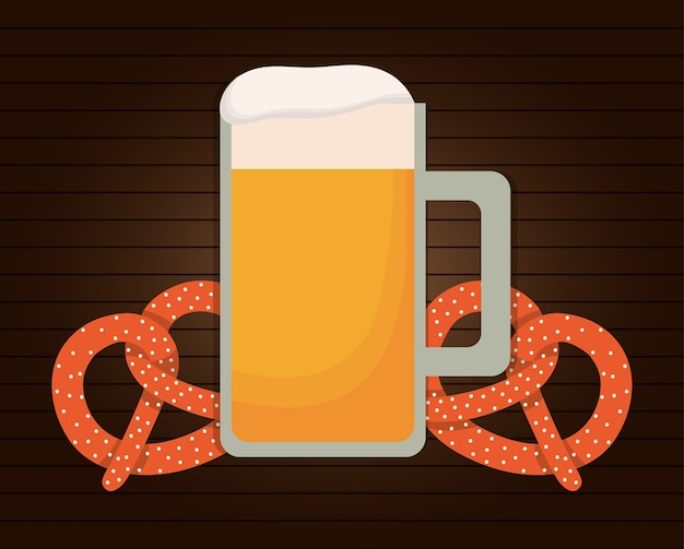 Icône de coeur drapeau bière oktoberfest