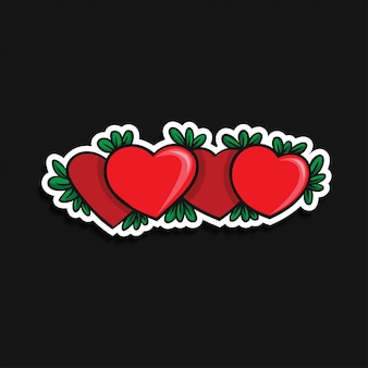 Icône de coeur. joyeux ornement saint valentin