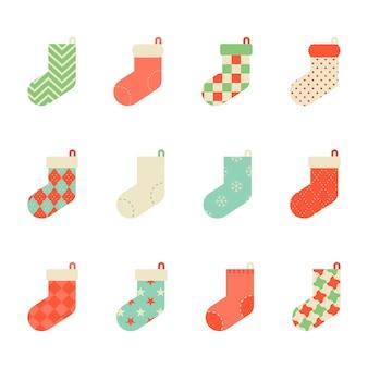 Icône de collection de chaussettes colorées
