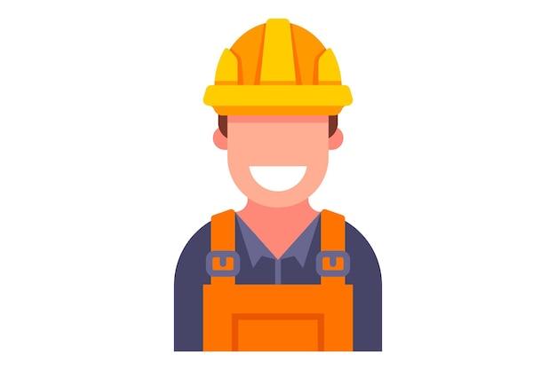 Icône colorée du constructeur en salopette.