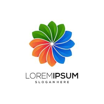 Icône colorée logo nature